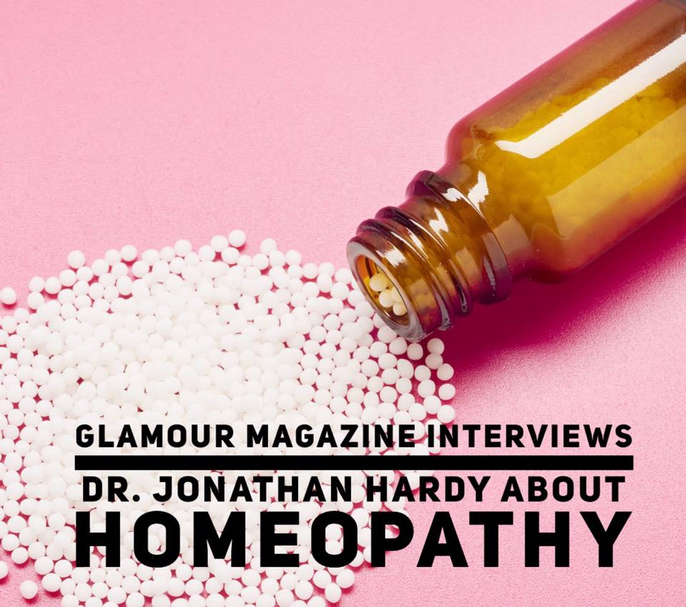Glamour Magazine: Interview with Dr. Jonathan Hardy about Homeopathy