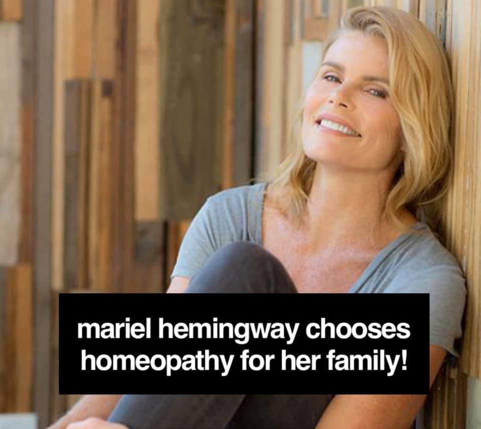 Mariel Hemingway embraces Homeopathy