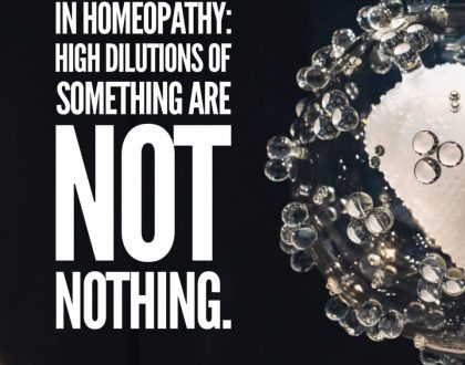 High Dilutions of Something are NOT Nothing