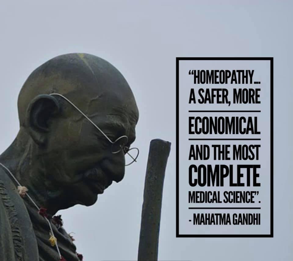Gandhi & Homeopathy