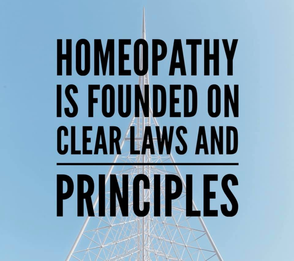 Homeopathy is founded on clear laws and principles