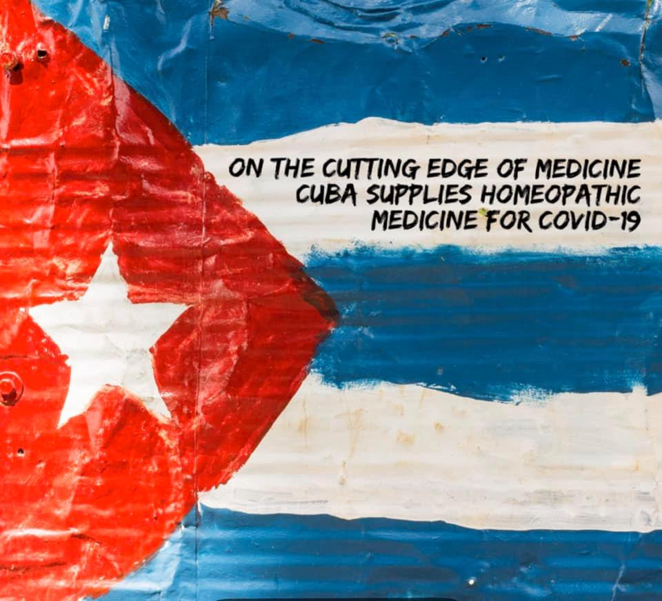 Cuba supplies homeopathic medicine for Covid-19.