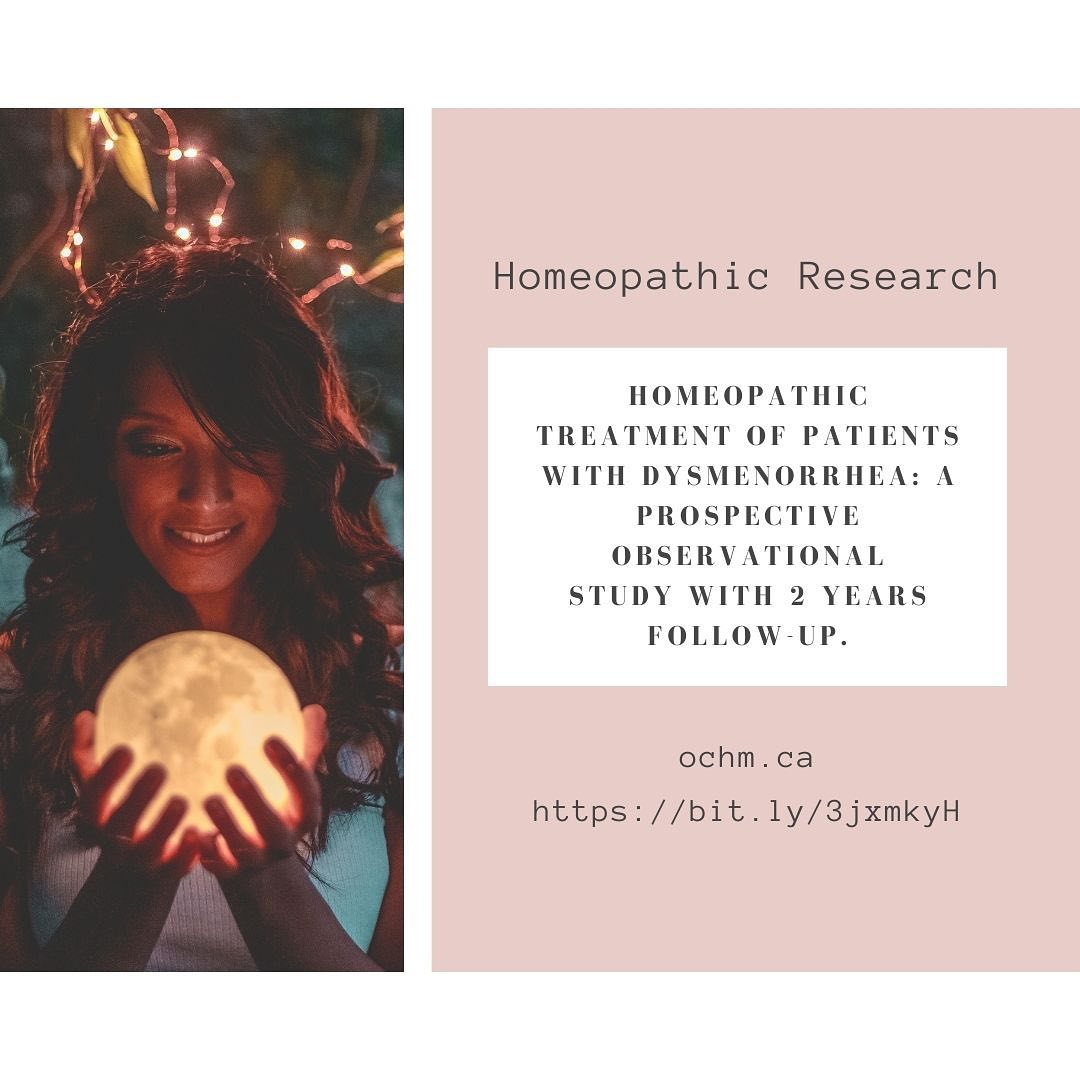 Homeopathic Treatment of Patients with Dysmenorrhea