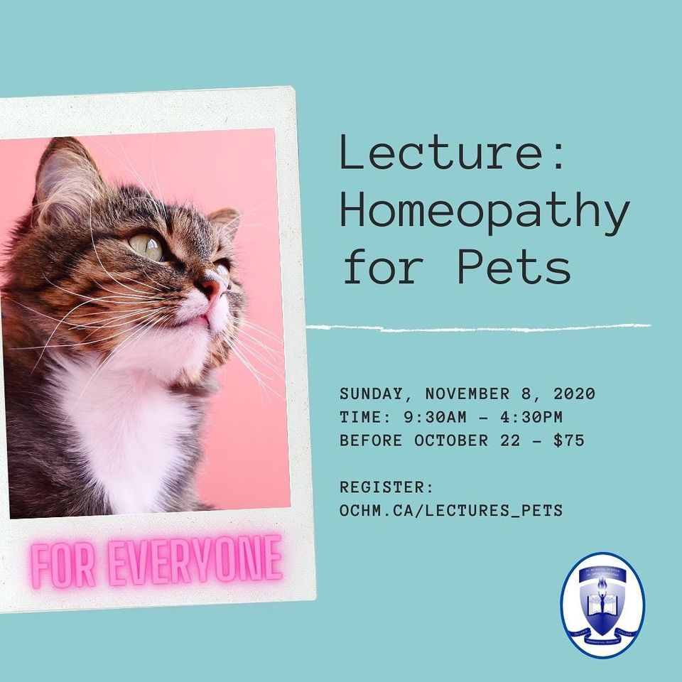 Webinar: Homeopathy for Pets