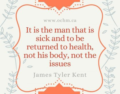 It is the man that is sick and to be returned to health, not his body