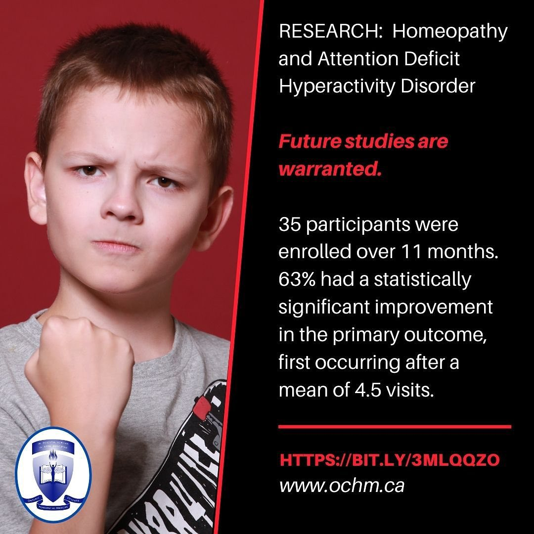 RESEARCH: ADHD & Homeopathy