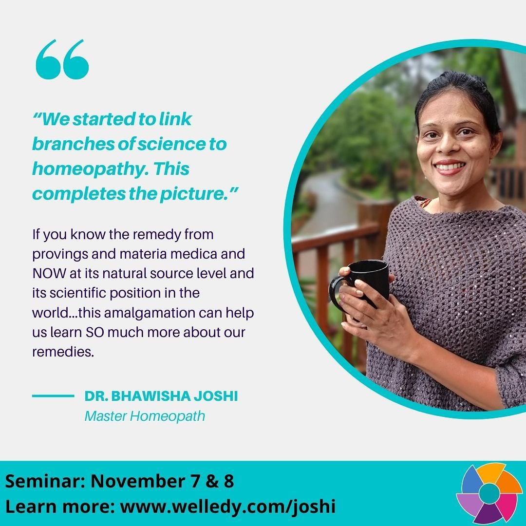 Seminar November 7 & 8 with Dr. Bwawisha Joshi