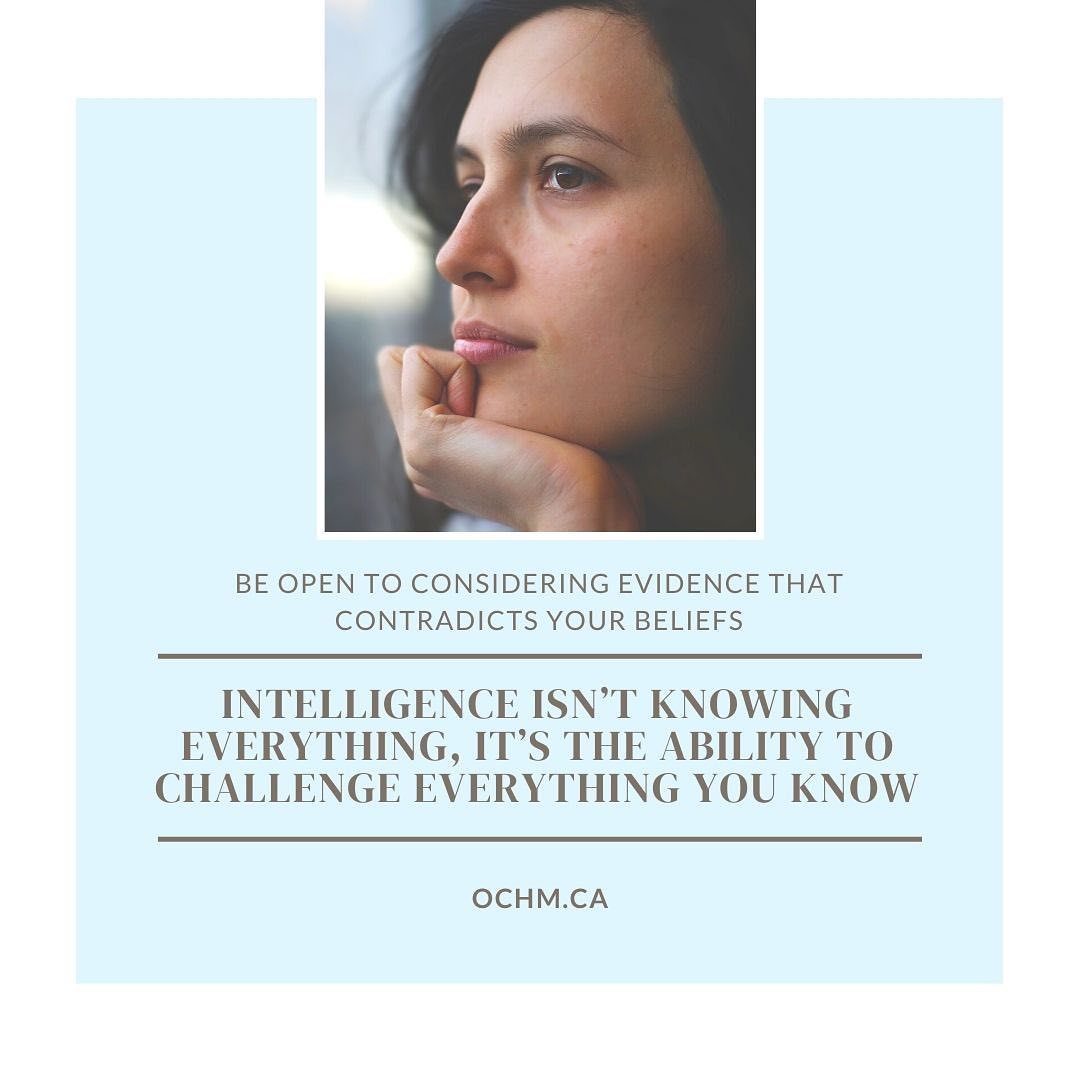 Intelligence isn't knowing everything, it's the ability to challenge everything you know