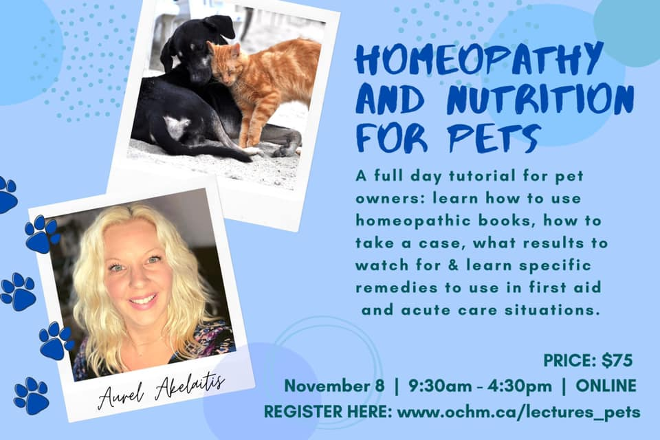 "EXPANDED Curriculum of our ""Homeopathy for Pets"" Seminar."
