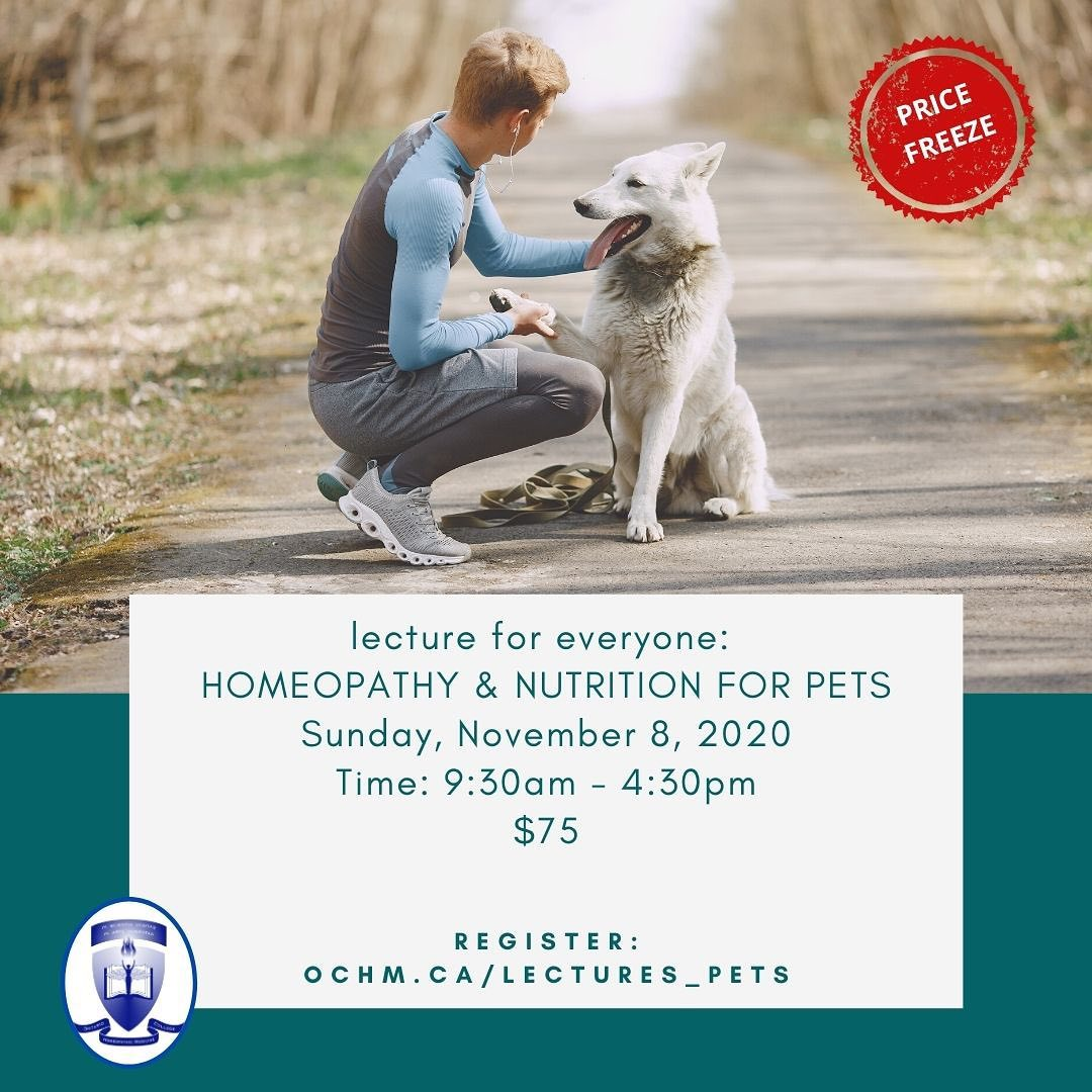 """We have EXPANDED the Curriculum of our """"Homeopathy for Pets"""" Seminar"""