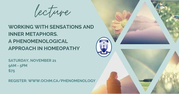 Working with Sensations and Inner Metaphors. A Phenomenological Approach in Homeopathy