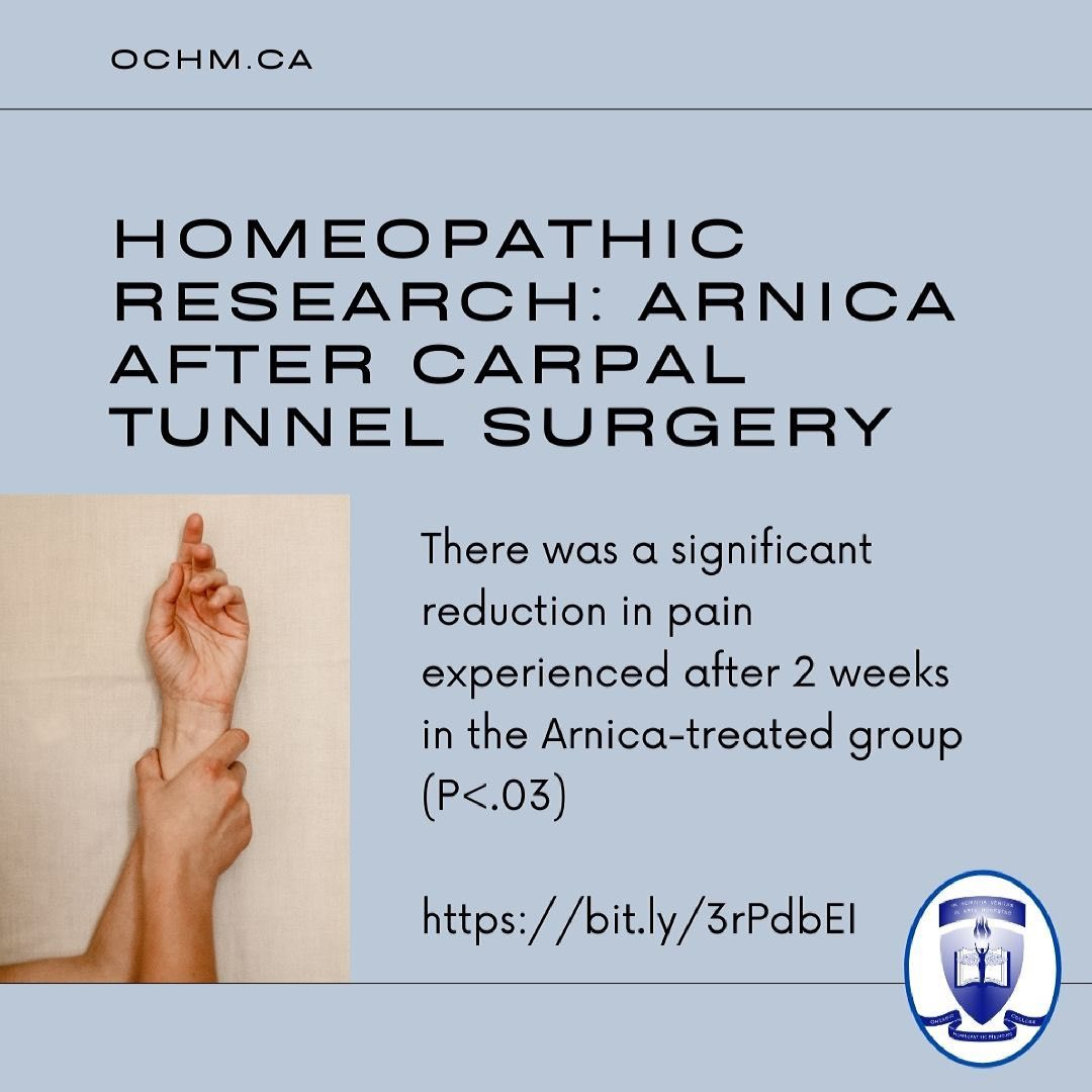 Homeopathic Research: Arnica after Carpal Tunnel Surgery
