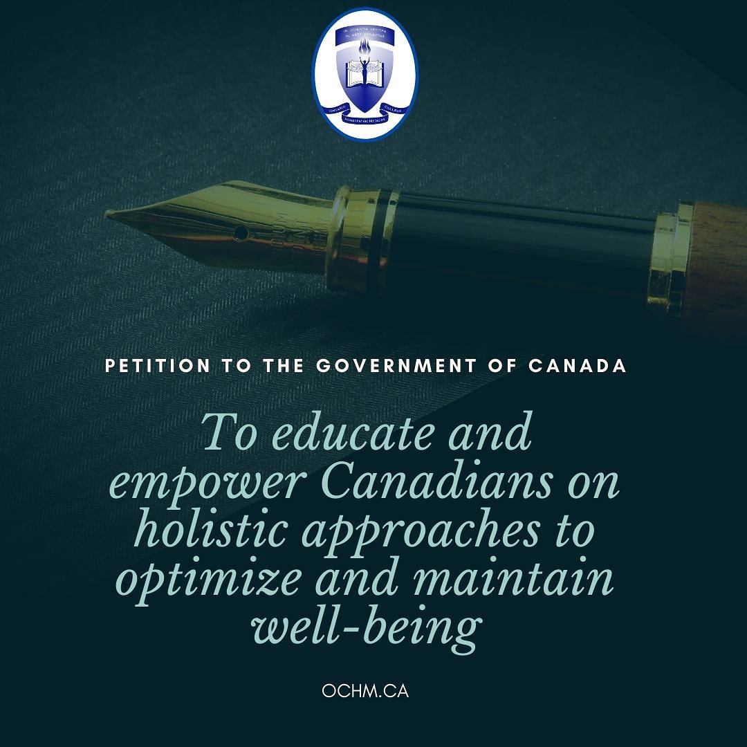 Petition the Government of Canada for Support of Natural and Integrative Therapies