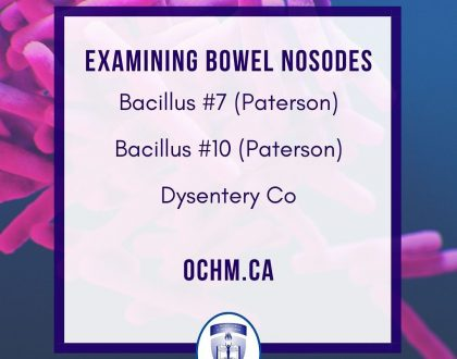 Quick Materia Medica on three Bowel Nosodes: Bacillus #7, Bacillus #10 and 