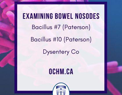 Quick Materia Medica on three Bowel Nosodes: Bacillus #7, Bacillus #10 and Dysentery Co