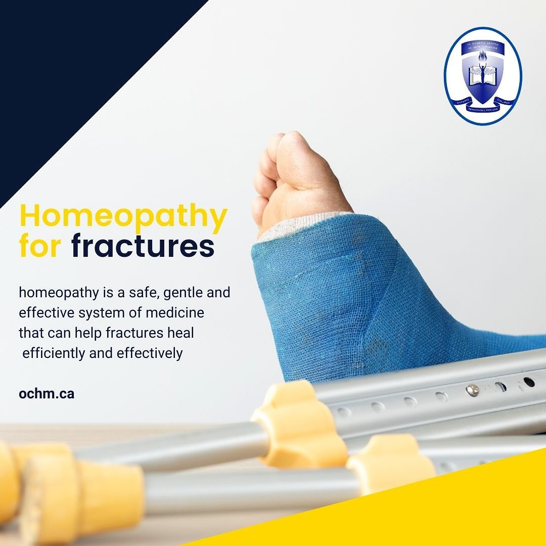 Today, let's talk about healing fractures with Homeopathy