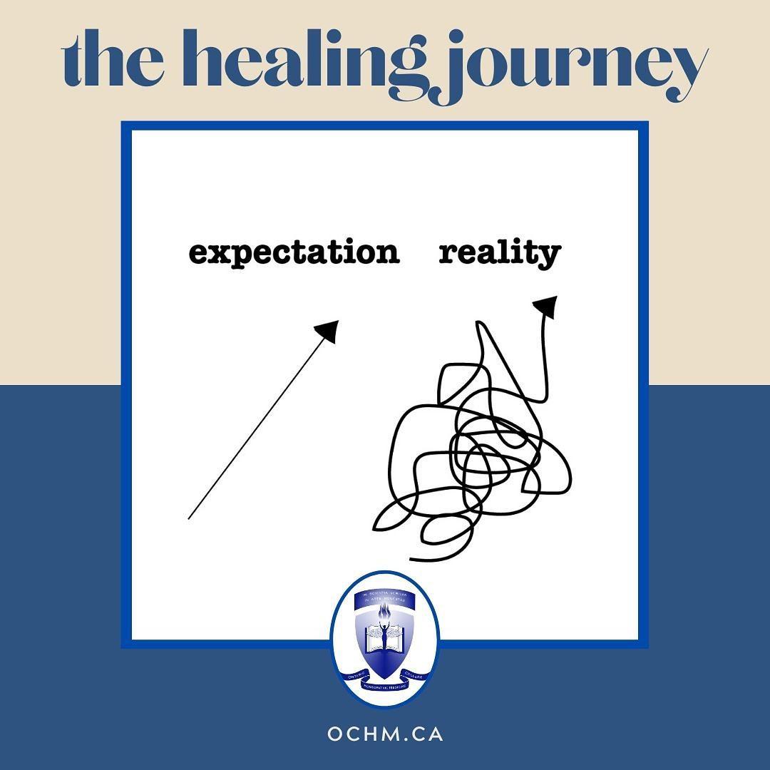 Healing is not linear. It's a process.